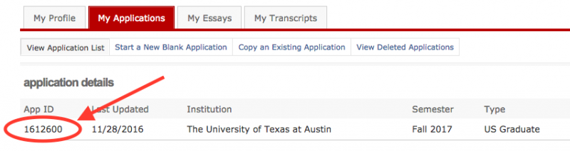 graduate faq department of computer science if you log into the applytexas site you will see it displayed your application