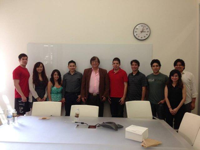 Richard Tapia with members of UT's ELA chapter