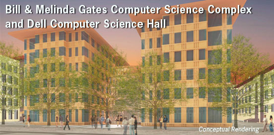 A conceptual rendering of the Bill & Melinda Gates Computer Science Complex and Dell Hall