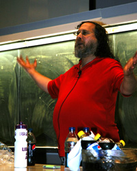 GNU Creator, Richard Stallman, Gives Talk on Copyright in the Age of Computer Networks