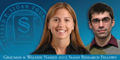 Grauman and Walfish Named 2012 Sloan Research Fellows